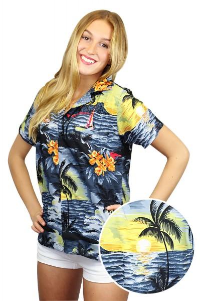 Funky Hawaiibluse | Hawaiihemd | Damen | XS - 6XL | Surf Neu | Mehrere Farbvarianten