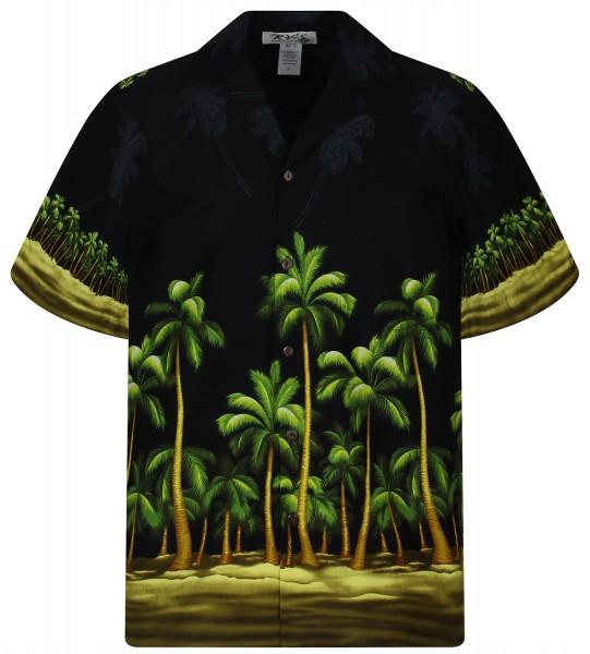 KY's | Original Hawaiihemd | Herren | S - 8XL | Palmenwald Blätter Strand | Mehrere Farbvarianten