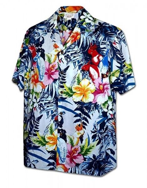 Pacific Legend | Original Hawaiihemd | Herren | S - 4XL | Flower Power | Blau