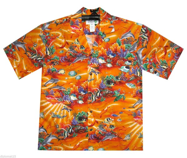 KY's | Original Hawaiihemd | Herren | S - 8XL | Aquarium Strahlen Fische | Mehrere Farbvarianten