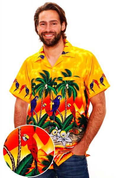 Funky Hawaiihemd   Herren   XS - 12XL   Papagei   Mehrere Farbvarianten