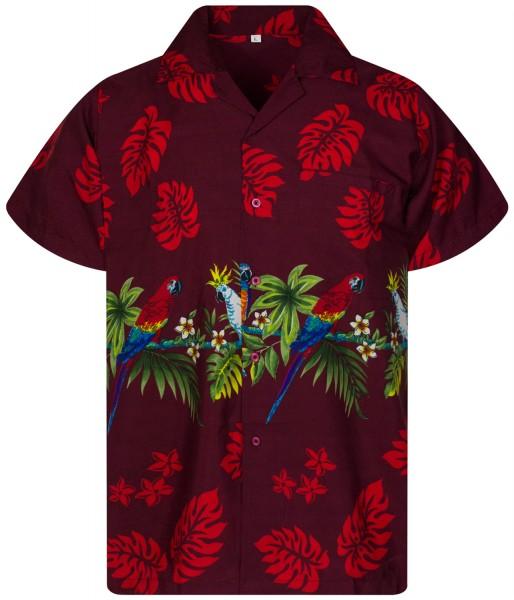 Funky Hawaiihemd | Herren | XS - 12XL | Papagei BD| Mehrere Farbvarianten