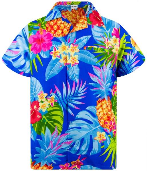 Funky Hawaiihemd Ananas Herren Kurzarm Mehrere Farben