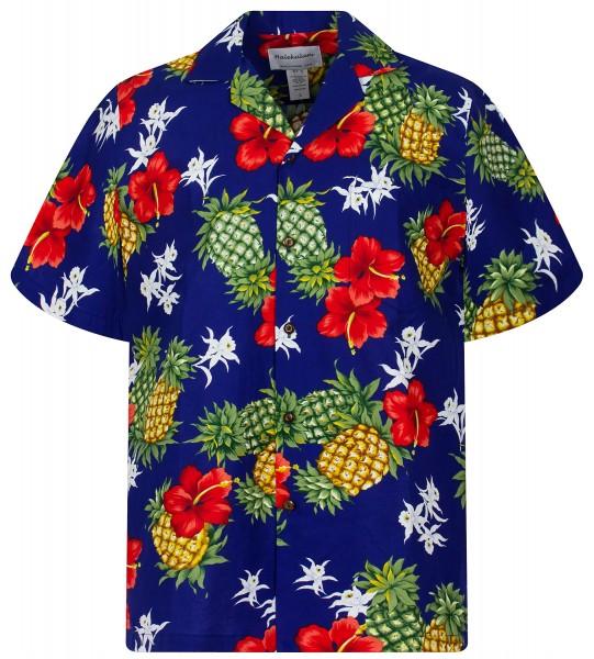 KY's   Original Hawaiihemd   Herren   S - 8XL   Ananas Blumen   Mehrere Farbvarianten