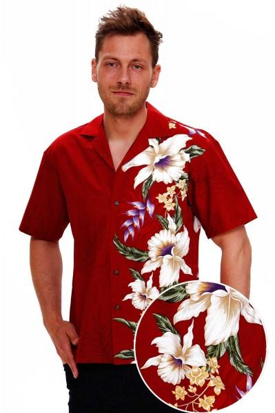 KY's | Original Hawaiihemd | Herren | S - 8XL | Blumen Floral Hochzeit | Rot