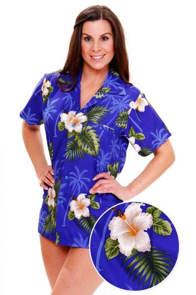 Funky Hawaiibluse | Hawaiihemd | Damen | XS - 6XL | Small Flower | Mehrere Farbvarianten