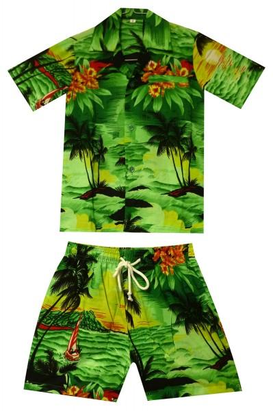 Funky Kinder Cabana Set | Hawaiihemd und Hose | Kinder | 2 - 8 Jahre | Surf | Mehrere Farben