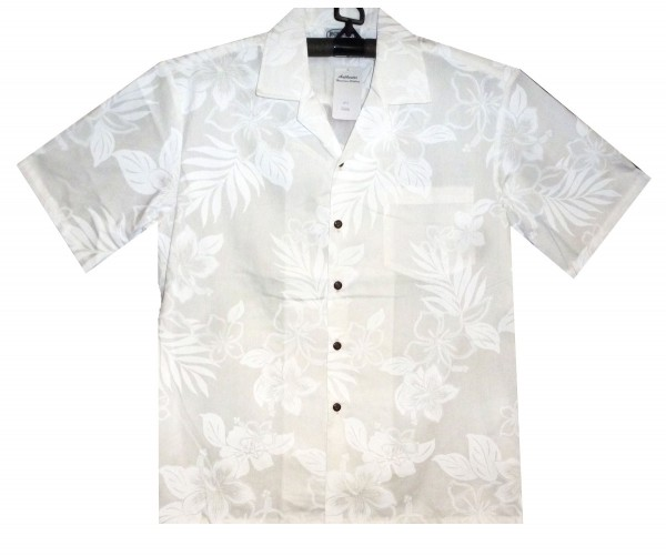 Pacific Legend | Original Hawaiihemd | Herren | S - 4XL | Shadow Blumen Blätter | Weiß