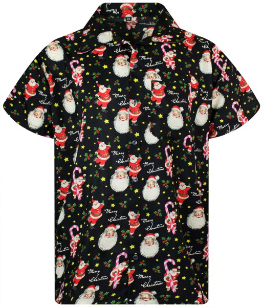 Funky Hawaiihemd Weihnachten Christmas Candycane Herren Kurzarm Mehrere Farben