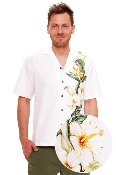 KY's | Original Hawaiihemd | Herren | S - 8XL | Strelizie Hochzeit | Mehrere Farbvarianten