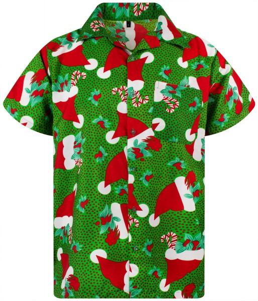 Funky Hawaiihemd Weihnachten Christmas Hats Herren Kurzarm Mehrere Farben