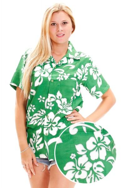 Funky Hawaiibluse | Hawaiihemd | Damen | XS - 6XL | Hibiskus | Mehrere Farbvarianten