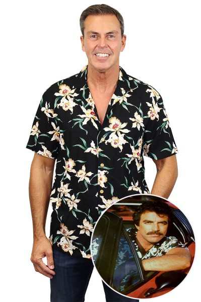 Original Hawaiihemd, Tom Selleck Star Orchid
