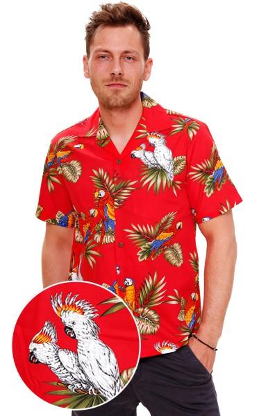 Pacific Legend   Original Hawaiihemd   Herren   S - 4XL   Kakadu Papagei   Mehrere Farbvarianten