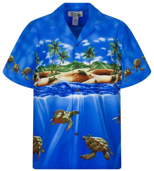 KY's   Original Hawaiihemd   Herren   S - 8XL   Schildkröten Meer Strand   Mehrere Farbvarianten