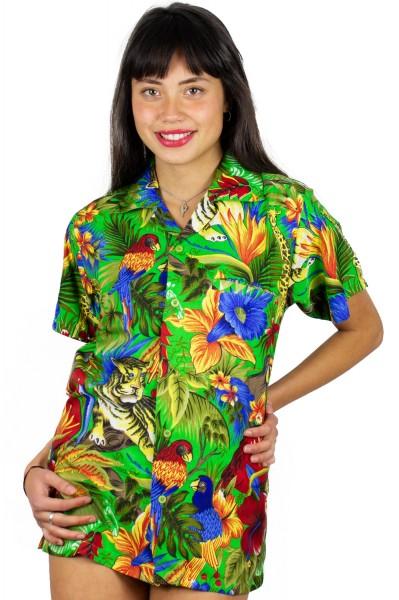 Funky Hawaiibluse | Hawaiihemd | Damen | XS - 6XL | Dschungel | Mehrere Farbvarianten