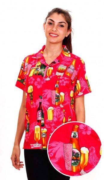 Funky Hawaiibluse | Hawaiihemd | Damen | XS - 6XL | Bierflaschen | Mehrere Farbvarianten