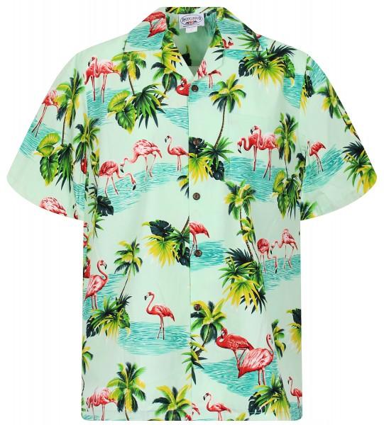 Pacific Legend | Original Hawaiihemd | Herren | S - 4XL | FlamingoPalmenMeer | Mehrere Farbvarianten