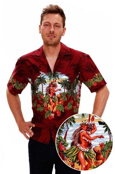 KY's   Original Hawaiihemd   Herren   S - 8XL   Hulamädchen Blumen   Mehrere Farbvarianten