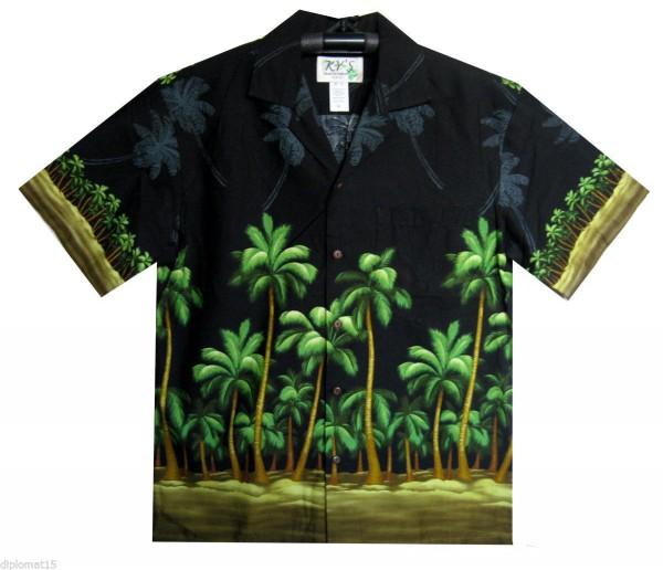 KY's   Original Hawaiihemd   Herren   S - 8XL   Palmenwald Blätter Strand   Mehrere Farbvarianten