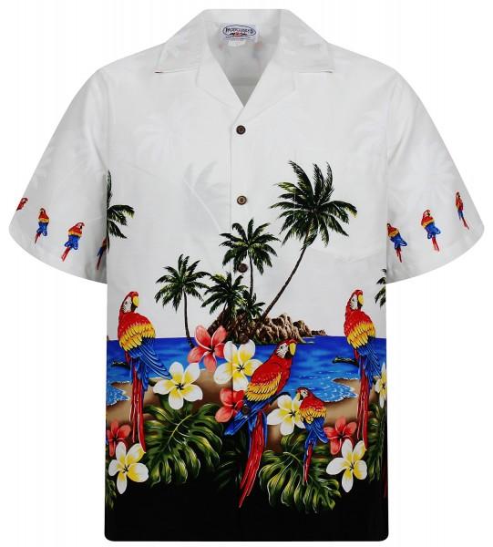 Pacific Legend | Original Hawaiihemd | Herren | S - 4XL | Papagei Palmen | Mehrere Farbvarianten