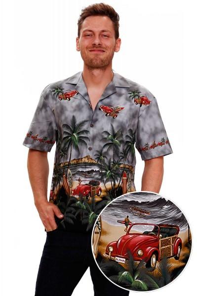KY's | Original Hawaiihemd | Herren | S - 8XL | Autos Käfer Palmen | Mehrere Farbvarianten