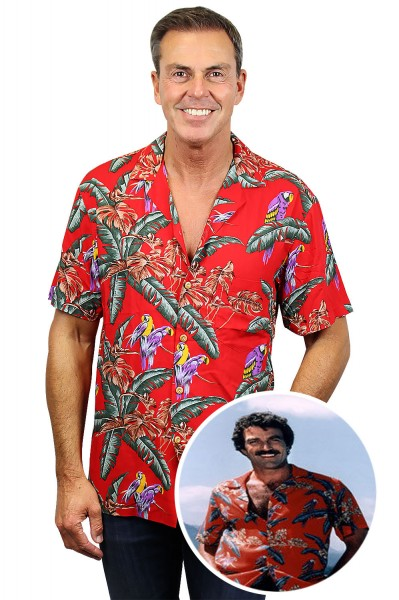 Original Hawaiihemd, Tom Selleck Rot