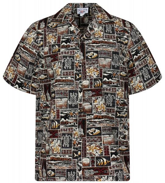 Pacific Legend | Original Hawaiihemd | Herren | S - 4XL | Puzzle Palmen | Mehrere Farbvarianten