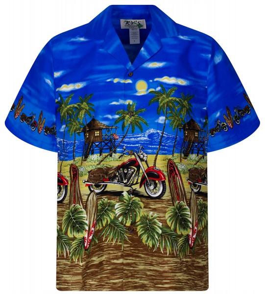 KY's | Original Hawaiihemd | Herren | S - 8XL | Motorrad Bike Strand | Mehrere Farbvarianten