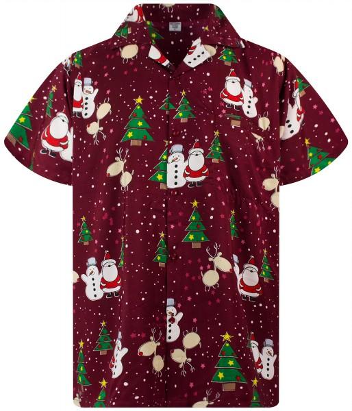 Funky Hawaiihemd Weihnachten Christmas Buddys Herren Kurzarm Mehrere Farben