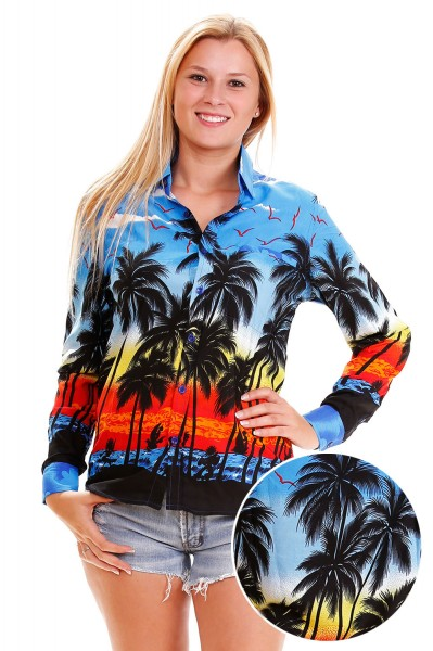 Funky Hawaiihemd Hawaiibluse | XS - 6XL | Langarm | Beach | Mehrere Farbvarianten