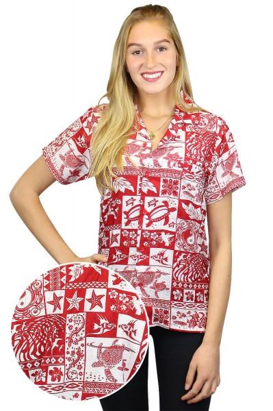 Funky Hawaiibluse | Hawaiihemd | Damen | XS - 6XL | Puzzle | Mehrere Farbvarianten