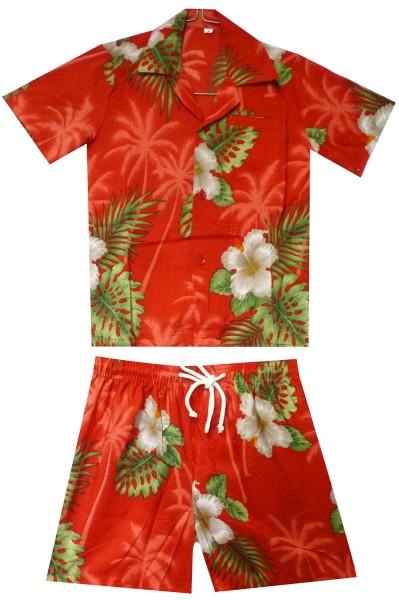 Funky Kinder Cabana Set | Hawaiihemd und Hose | Kinder | 2 - 8 Jahre | Kleine Blume | Mehrere Farben