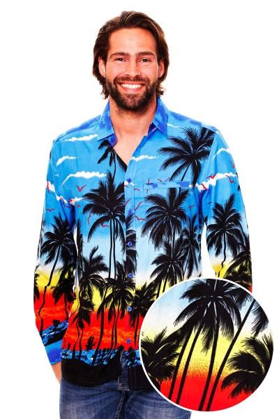 Funky Hawaiihemd | Herren | XS - 6XL | Langarm | Front-Tasche | Beach | Mehrere Farbvarianten