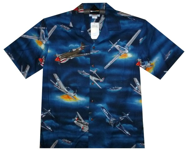 pacific legend original hawaiihemd herren s 4xl flugzeug flieger boot blau hawaiishirt. Black Bedroom Furniture Sets. Home Design Ideas