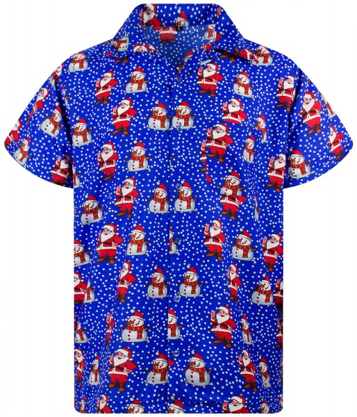 Funky Hawaiihemd Weihnachten Christmas Santa Like Herren Kurzarm Mehrere Farben