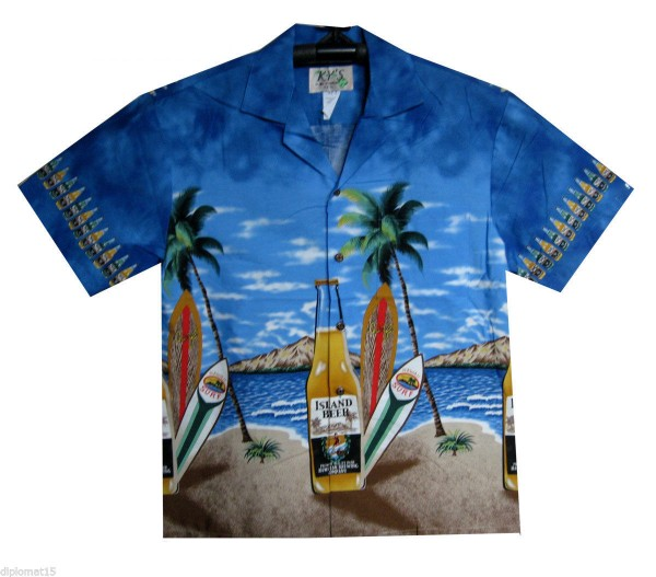 KY's | Original Hawaiihemd | Herren | S - 8XL | Bier Strand Party | Mehrere Farbvarianten