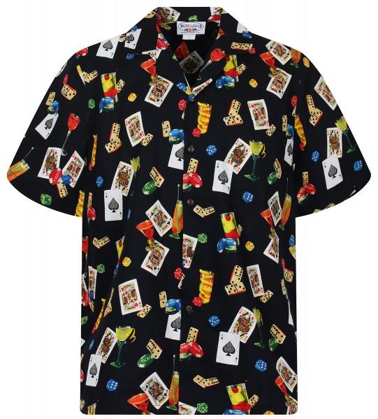 Pacific Legend | Original Hawaiihemd | Herren | S - 4XL | Poker | schwarz