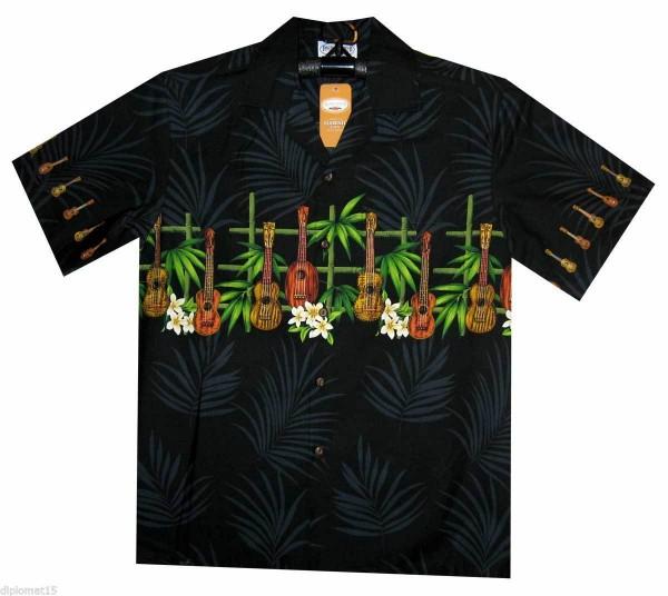 Pacific Legend | Original Hawaiihemd | Herren | S - 4XL | Gitarren Bambus | Mehrere Farbvarianten