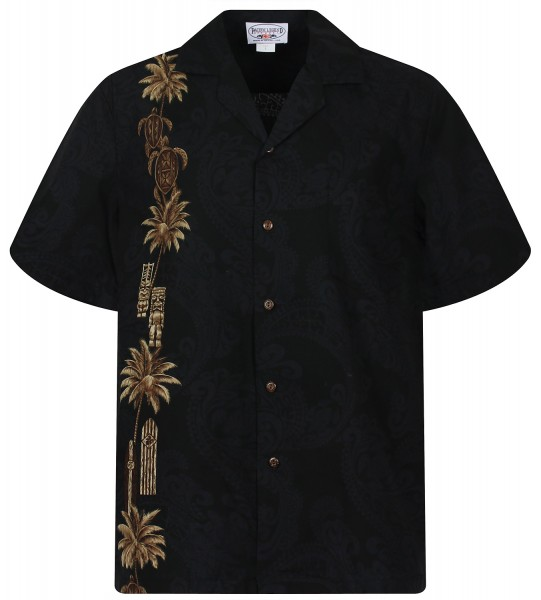 Pacific Legend | Original Hawaiihemd | Herren | S - 4XL | Turtle verti | schwarz