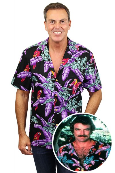 Original Hawaiihemd, Tom Selleck, Schwarz