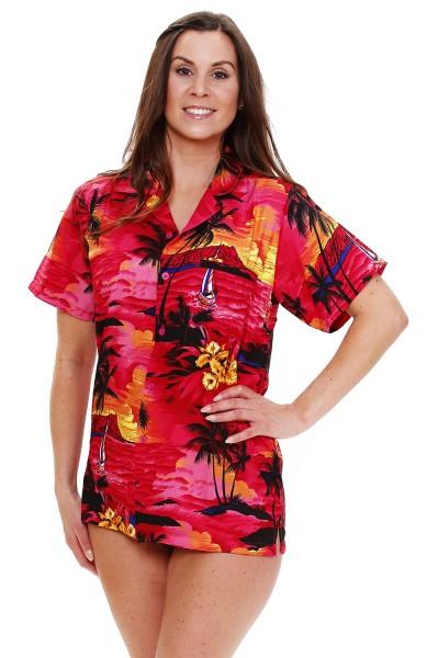Funky Hawaiibluse | Hawaiihemd | Damen | XS - 6XL | Surf | Mehrere Farbvarianten