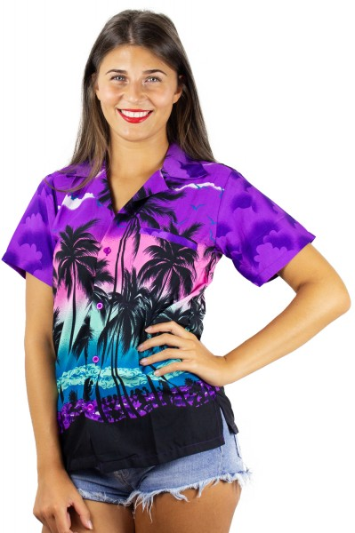 Funky Hawaiibluse | Hawaiihemd | Damen | XS - 6XL | Beach | Mehrere Farbvarianten