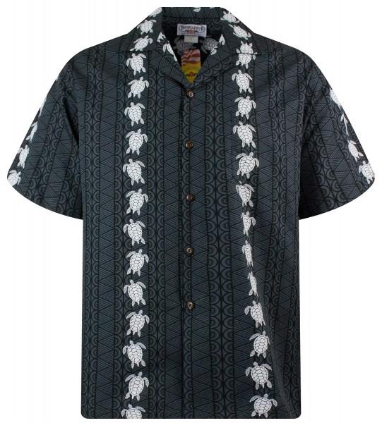 Pacific Legend | Original Hawaiihemd | Herren | S - 4XL | Turtle new | schwarz