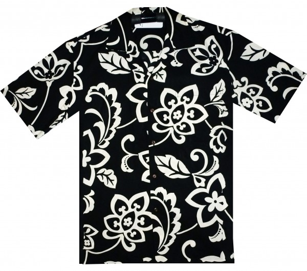 Pacific Legend | Original Hawaiihemd | Herren | S - 4XL | Traditionell Blume | Schwarz