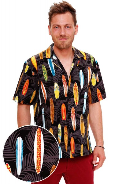 KY's | Original Hawaiihemd | Herren | S - 8XL | Surfbretter Allover | Mehrere Farbvarianten