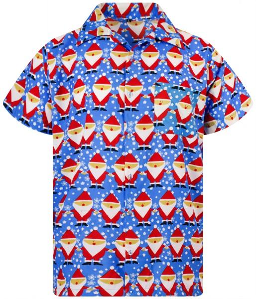 Funky Hawaiihemd Weihnachten Christmas Santa Allover Herren Kurzarm Mehrere Farben