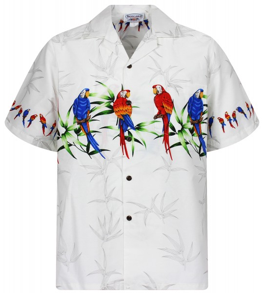 Pacific Legend | Original Hawaiihemd | Herren | S - 4XL | Papagei Vögel l Mehrere Farbvarianten