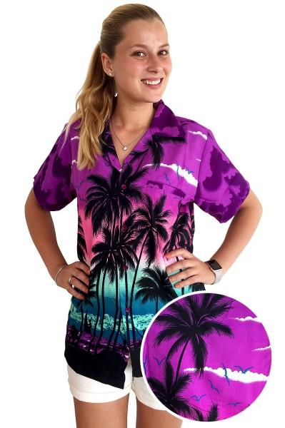 Funky Hawaiibluse   Hawaiihemd   Damen   XS - 6XL   Beach   Mehrere Farbvarianten
