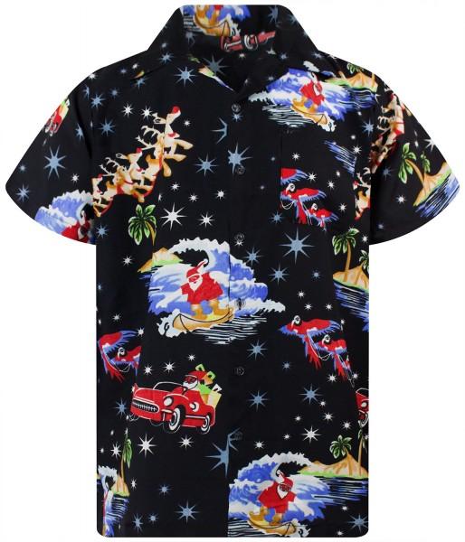 Funky Hawaiihemd Weihnachten Christmas Surf Herren Kurzarm Mehrere Farben